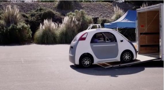 Carro sin conductor de Google. / Fuente: Google