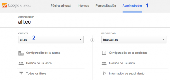 Enlazar Adwords y Analytics - Paso 2